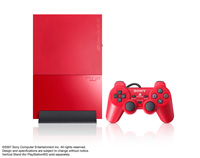 PlayStation 2 (SCPH-90000 Series) Cinnabar Red