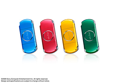 PSP® (PlayStation®Portable) (PSP-3000) CARNIVAL COLORS Vibrant Blue, Radiant Red, Bright Yellow and Spirited Green